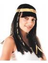 Perruque égyptienne avec bandeau, incarnez la ravissante Cléopâtre