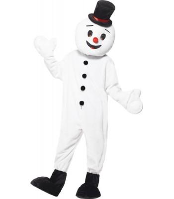 Mascotte bonhomme de neige adulte