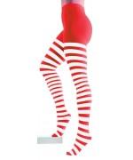 Collants à rayures rouge et blanc, un accessoire indispensable pour vos déguisements de noël