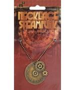 Collier steampunk avec rouages de couleur bronze - bijoux steampunk