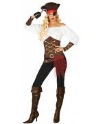 déguisement de pirate pour femme, combinaison avec haut et chapeau