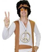 Pendentif hippie geant en PVC, peace and love