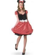 déguisement Minnie pour femme, costume officiel Disney avec robe et serre-tête