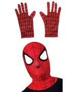 Cagoule et gants Spiderman, kit de déguisement super héros Marvel pour enfant