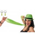 Cravate vert fluo, idéale pour une soirée années 80 ou à l'occasion de la saint Patrick