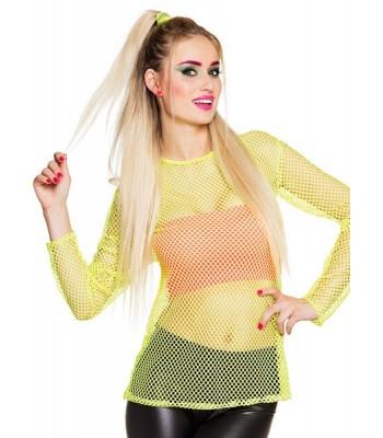 T-shirt jaune fluo résille