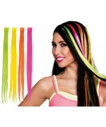 Extension fluo pour cheveux, optez pour des mèches fluo typiques des années 80