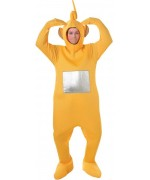 Costume de télétubbies pour adulte, incarnez Laa-laa le télétubbies jaune de la série télé des années 90