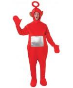 déguisement de télétubbies rouge, incarnez Po le teletubbies à l'occasion d'une soirée années 90 ou série télé