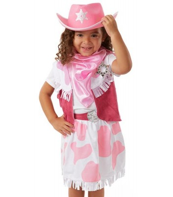 Déguisement cowgirl rose fille