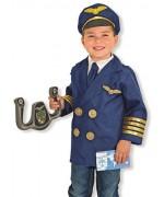 Déguisement de pilote d'avion pour enfant de 3 à 6 ans