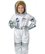 déguisement d'astronaute pour enfant de 3 à 6 ans avec combinaison, casque et gants