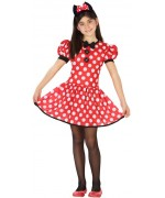 déguisement de souris pour fille, idéal pour incarner la célèbre Minnie - robe et serre-tête pour filles de 3 à 12 ans