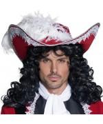 Chapeau de pirate avec plume, le chapeau du capitaine pirate