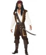 déguisement de pirate pour homme de couleur marron - déguisements pirates