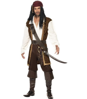 Déguisement pirate homme marron