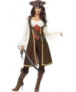 déguisement de pirate pour femme marron - costume pirate