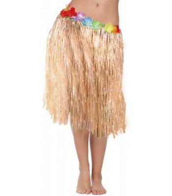 Jupe Hawaïenne avec fleurs 45 cm