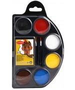 Palette de maquillage 7 couleurs, réalisez facilement tous vos maquillages d'halloween ou de carnaval