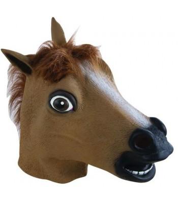 Masque de cheval intégral en latex