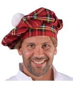 Casquette d'écossais avec pompon