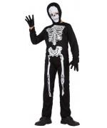 déguisement de squelette pour garçon de 3 à 12 ans avec combinaison, masque et gants