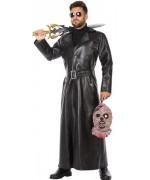 Déguisement de chasseur de vampire, long manteau noir avec ceinture