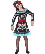 Déguisement de mexicaine halloween pour fille de 3 à 12 ans - Day of the dead