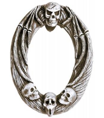 Faux miroir avec tête de mort