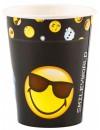 8 Gobelets Smiley Emoticone 150ml