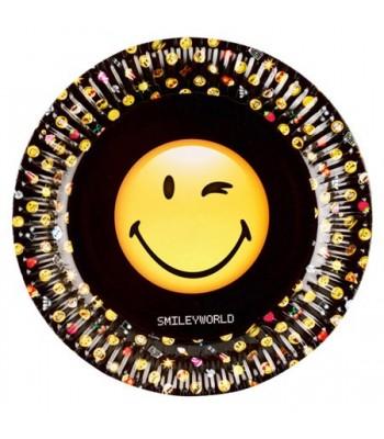 8 Assiettes Smiley Emoticone