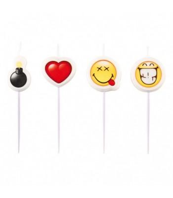Mini Bougies Emoticone Smiley La Magie Du Deguisement Deco De Table