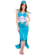 déguisement de sirène pour femme avec robe et coiffe