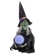 Décoration sorcière avec boule de cristal lumineuse