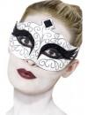 Loup blanc et noir avec paillettes, incarnez la célèbre Black Swan