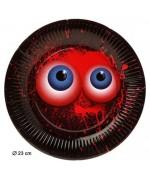 Optez pour une déco de table originale pour halloween avec ces 6 grandes assiettes sanglantes de 23 cm