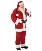 Déguisement de Père Noël velours avec veste, pantalon, ceinture et bonnet