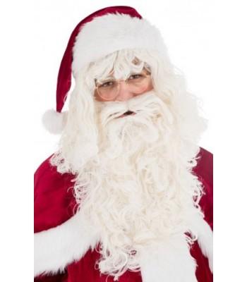 Perruque Père Noël avec barbe luxe