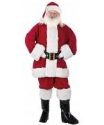 Beau costume de Père Noël haute qualité de couleur rouge bordeaux