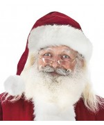 beau bonnet de Père Noël de qualité supérieure, large tour de tête