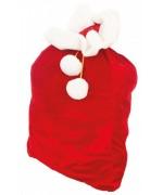 Hotte Père Noël velours 90 x 60 cm, idéale pour accessoiriser votre costume de Père Noël