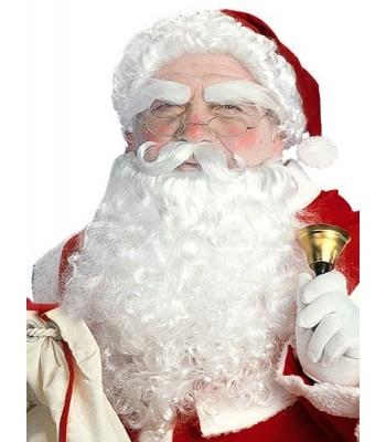 Set de Père Noël luxe avec perruque, barbe