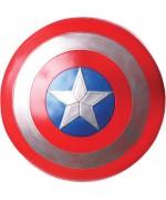 Bouclier de Captain America pour enfant en plastique métallisé sous licence Marvel Avengers