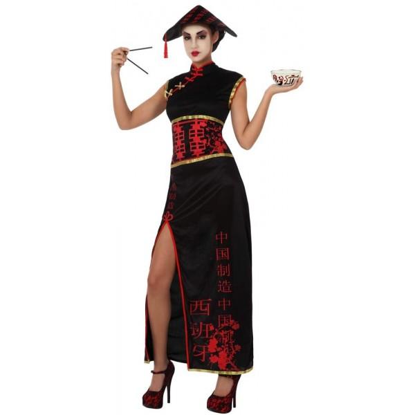 deguisement de chinoise noire pour adulte la magie du deguisement. Black Bedroom Furniture Sets. Home Design Ideas
