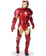 Déguisement Iron Man luxe édition collector, armure complète avec torse, mains et yeux lumineux - costume Marvel