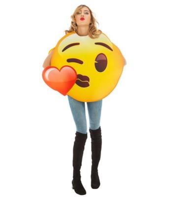 Déguisement Emoji bisous cœur