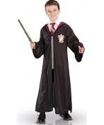 Déguisement Harry Potter pour enfant de 4 à 8 ans avec robe, baguette magique et lunettes