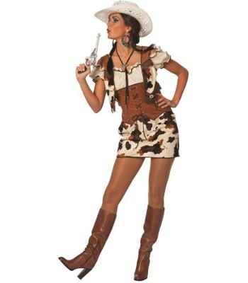 Déguisement cowgirl luxe motif vache