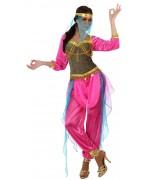 Deguisement de danseuse orientale rose