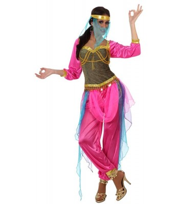 Déguisement danseuse orientale rose